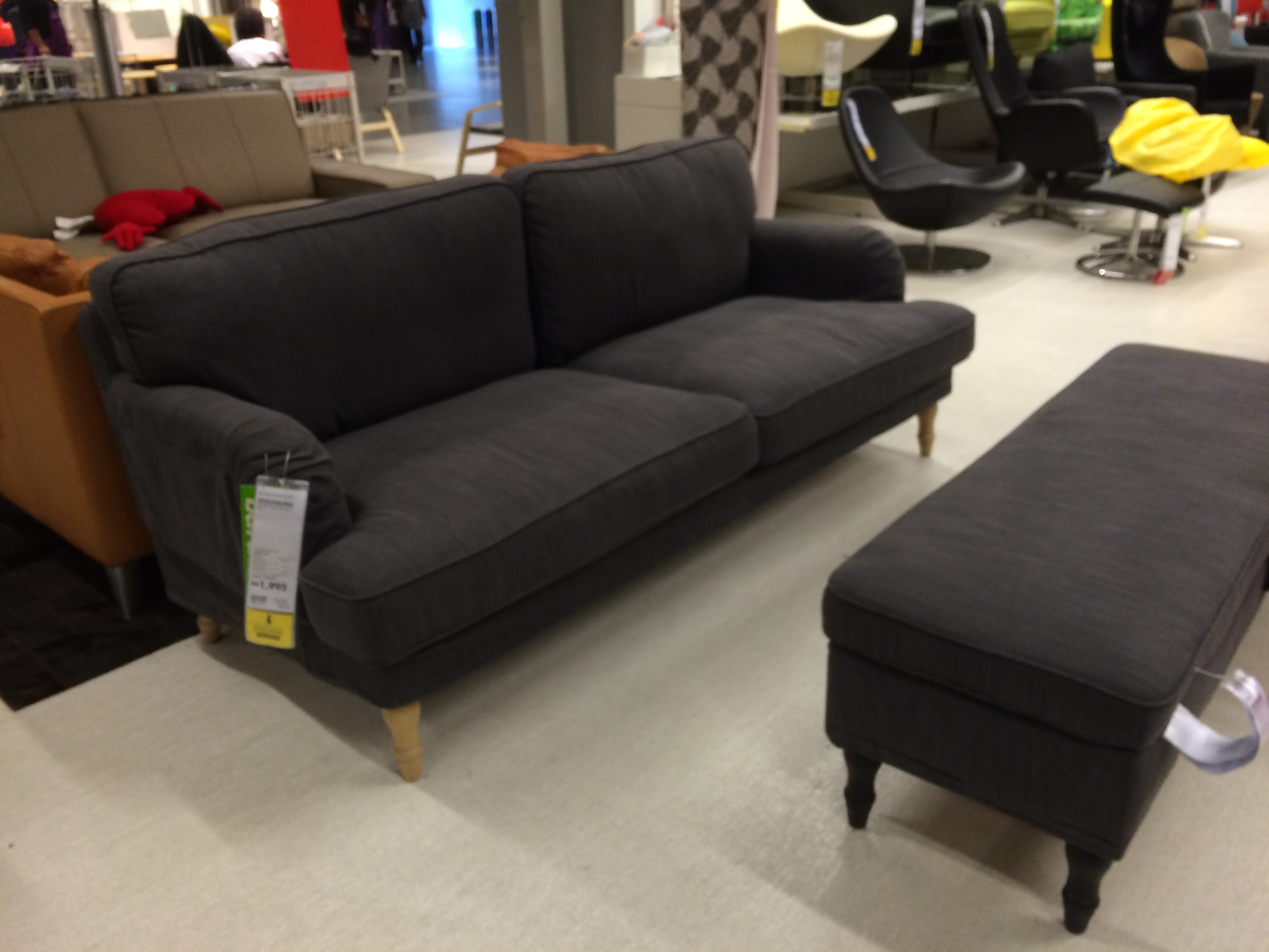 english roll arm sofa 2 seat slipcover ikea stocksund series (2014) review - new at ikea!