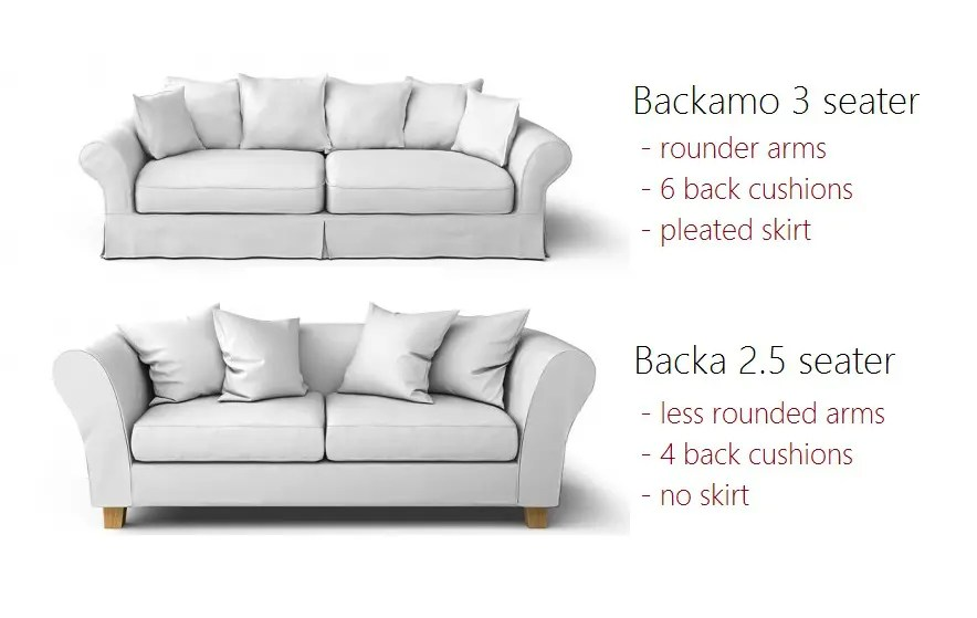 backamo 3 seater sofa slipcover house beautiful leather sofas backa vs differences can their covers be swapped