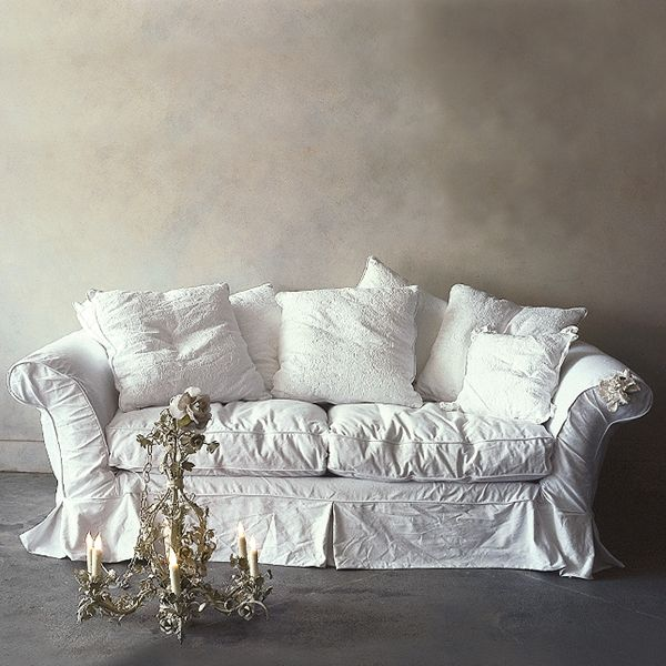 canape sofa cover bed bristol second hand beautify your ikea with custom long skirt slipcovers