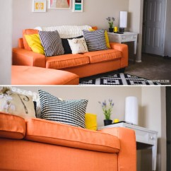 Sofa Bed Color Orange Wooden Furniture Set Designs The Perfect Slipcover For Different Lifestyles