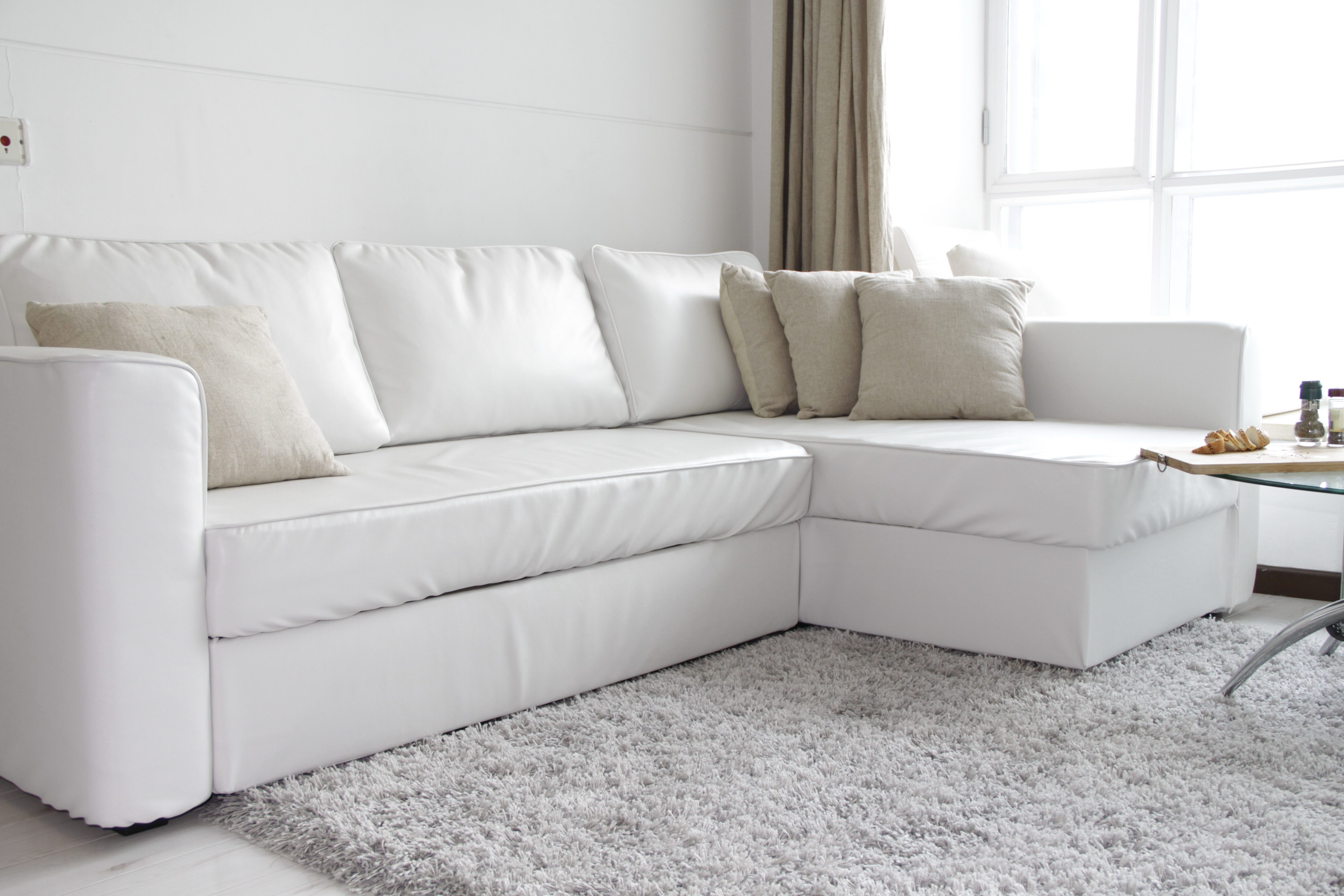 ikea couch sofa sectional manstad wayfair full size sleeper guide to buying or fagelbo comfort works slipcover snug fit modena white