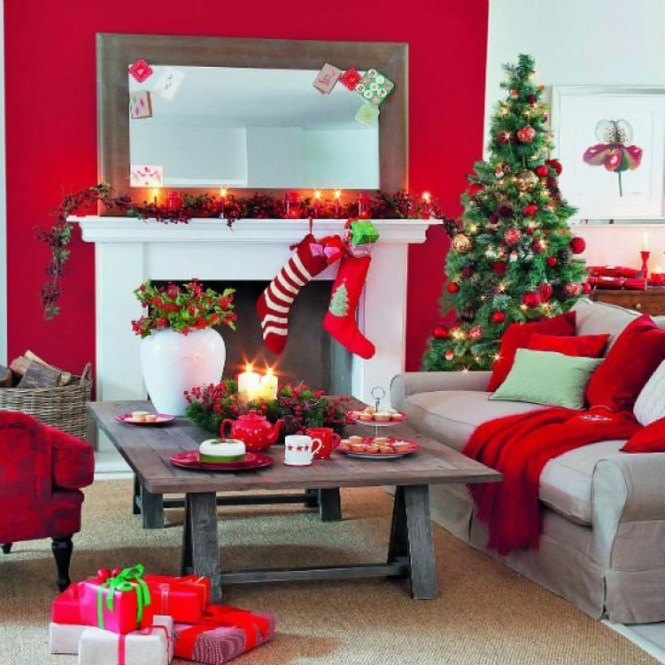 Home Decoration White And Green Christmas Fireplace Decor Orange Fruits Mantel Garland Rustic