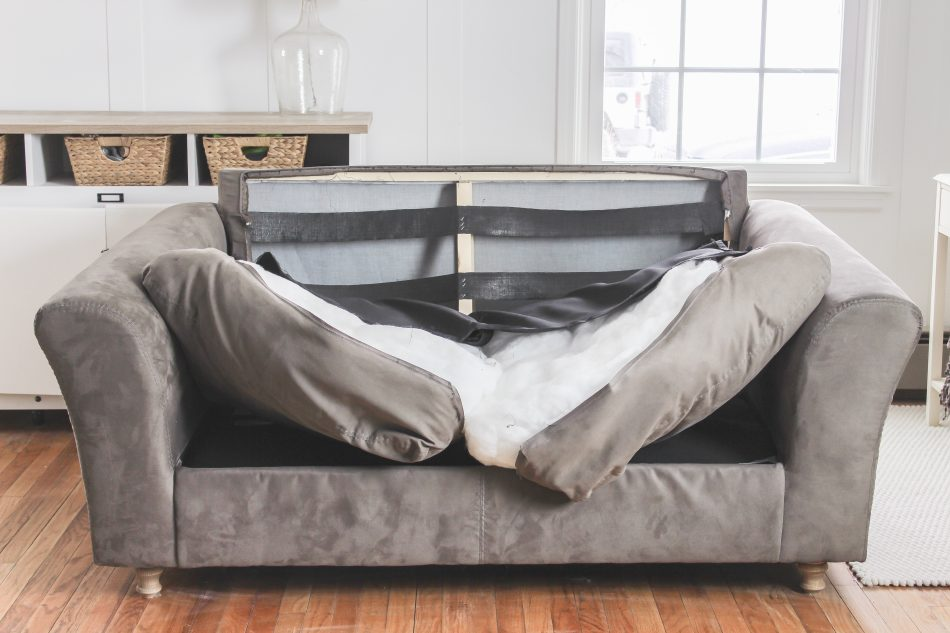 extra long sofa slipcover bed with chaise and storage slipcovers for sofas attached cushions – can it be done?