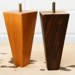 Wooden Sofa Table Legs How To Repair Leather Cat Scratch Diy Guide For Custom Stained Furniture