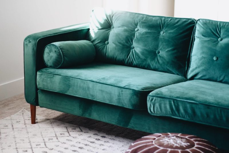 emerald green sofa covers yellow corner bed velvet – style over practicality? we don't ...