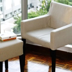Loose Dining Chair Covers Australia West Elm Slipper Spruce Up Your Ikea Klippan Sofa Cover In A Linen