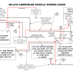 Powertech Dual Battery Isolator Wiring Diagram Bird Digestive System Our Delica Campervan 39s 12v Electrical Setup Comfortably Lost