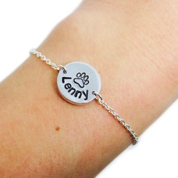 Personalized pet memorial bracelet