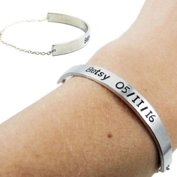 Custom name cuff bracelet