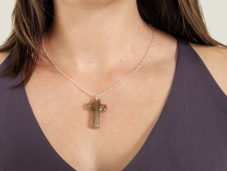 cross memorial necklace