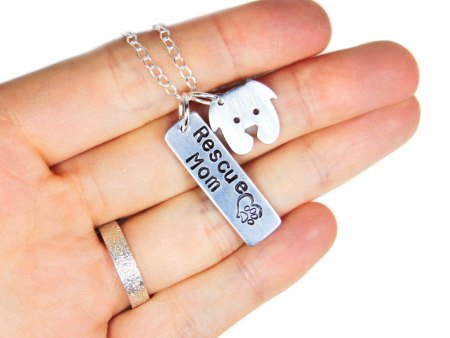 rescue dog mom necklace
