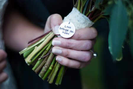 personalized bouquet charm