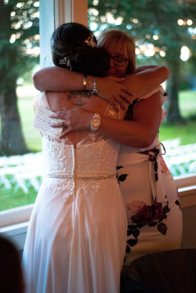 hugging after hearing a message from Heaven