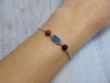 paw print birthstone bracelet
