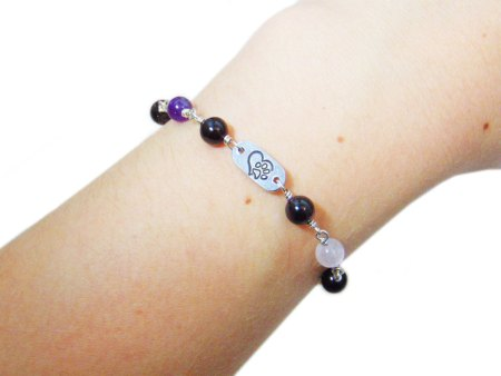 pet lover birthstone bracelet