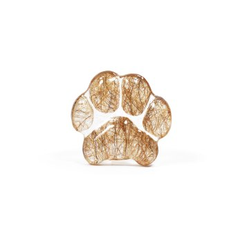 Pawcket Stone – Created from your pet's actual paw print (with hair/ashes)