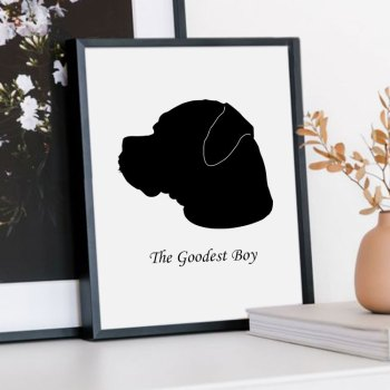 dog silhouette print