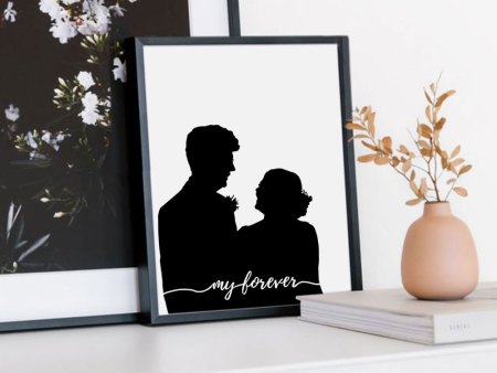 wedding silhouette portrait