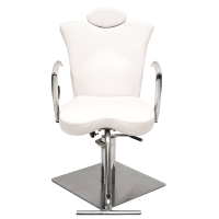 White Leather Makeup Chair