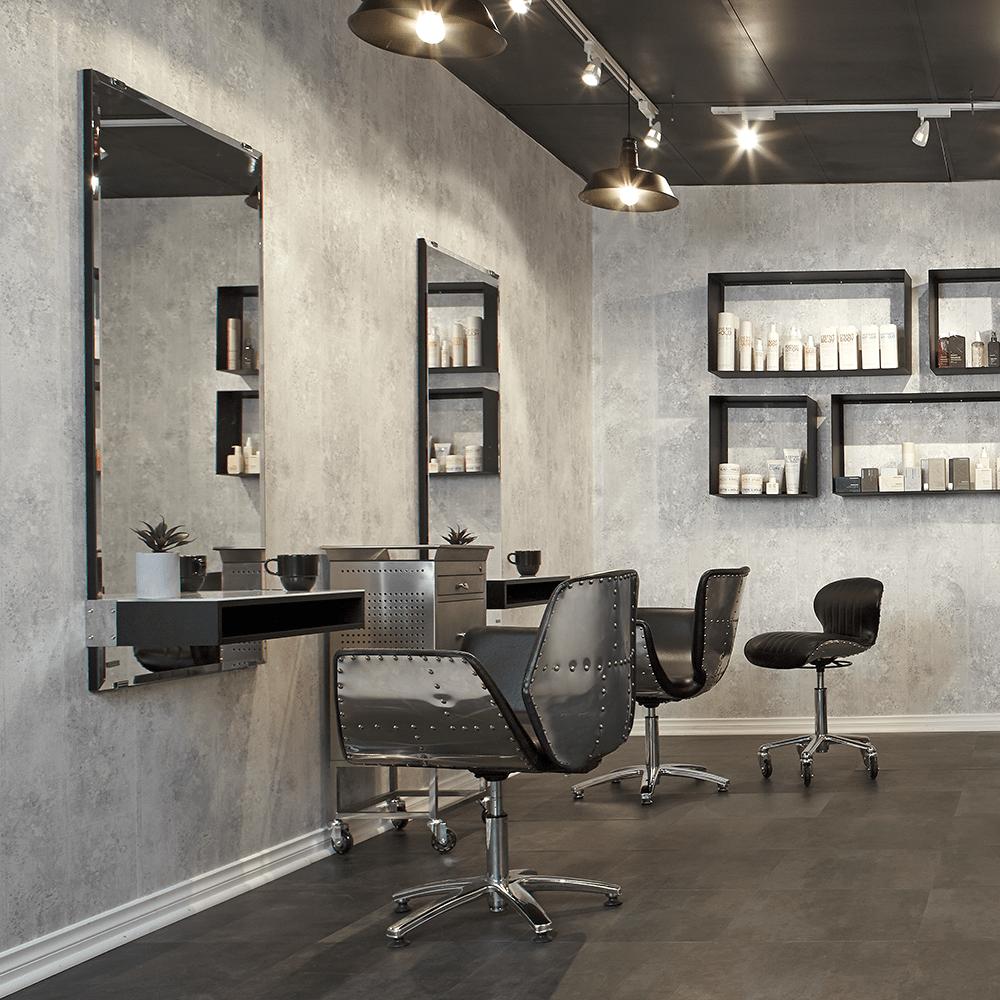 beauty salon waiting area chairs chair mat walmart antonio mirror - comfortel singapore