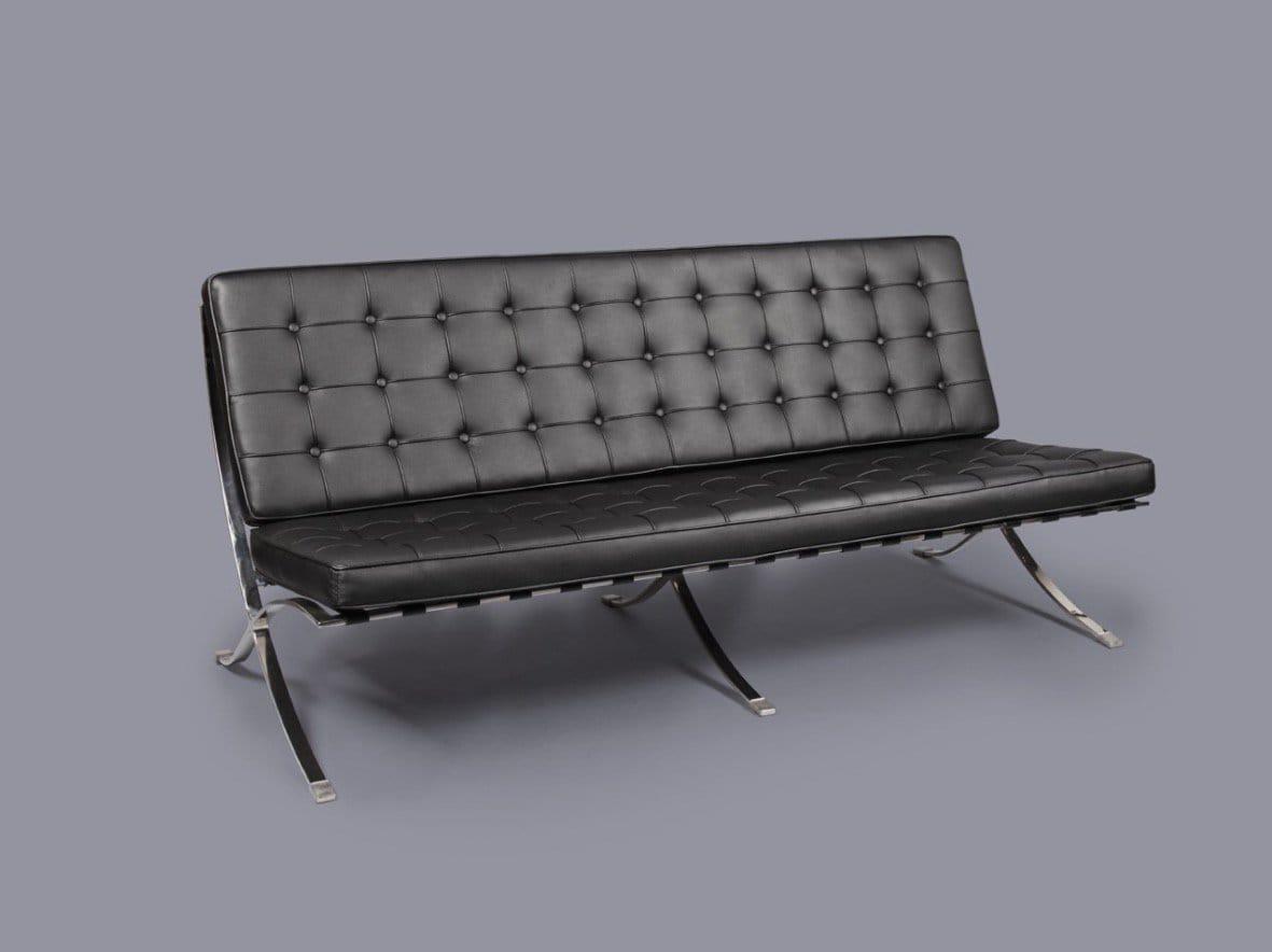 sofa for van singapore custom leather cushions barcelona replica 3seater comfort design the
