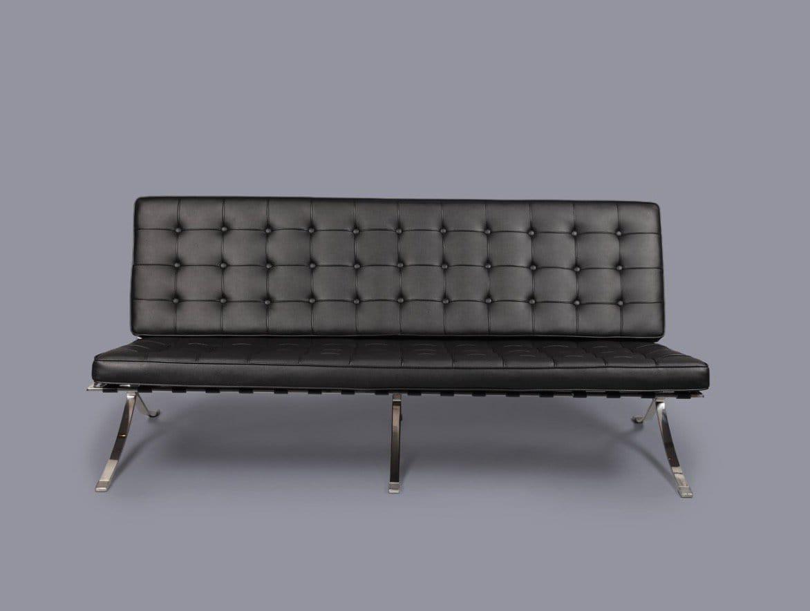 sofa for van singapore manhattan bed in black or brown barcelona replica 3seater comfort design the