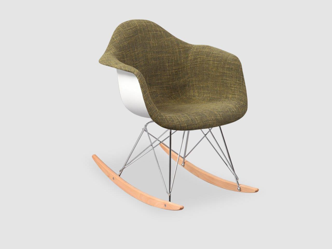 rocker chair sg beach chairs walgreens gum  half fabric 43 rocking arm comfort design