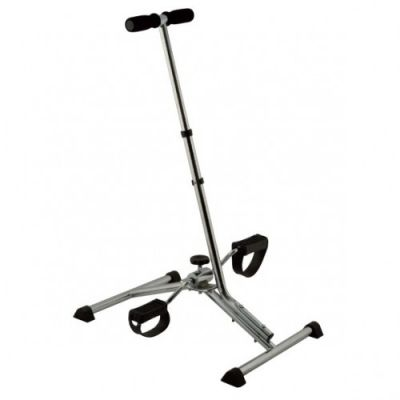 Gym pedal exerciser with handle