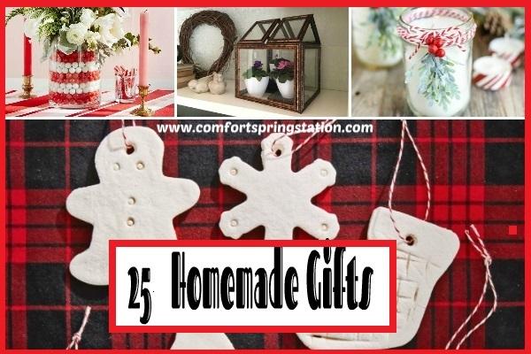 25 Homemade Gifts @ comfortstreetstation.com