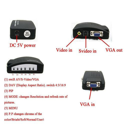 small resolution of video svideo tv av rca to pc vga signal adapter converter video switch box