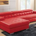 Floria Red Sectional Sofa Cm6122 Furniture Of America Sectional Sofas Comfyco Furniture