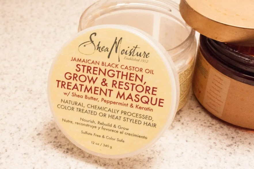 SheaMoisture Masque - Jamaican Black Castor Oil Strengthen, Grow & Restore Treatment Masque - Best SheaMoisture Masques for Natural Hair