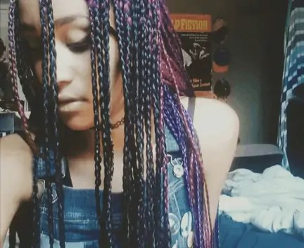 Purple and Black Box Braids | MultiColor Box Braids | Magenta | How To {