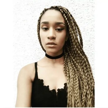 Golden Blonde Box Braids | Choker | How to do your own
