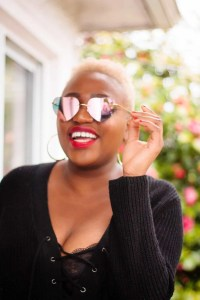 Tilda | Blonde Tapered Cut Inspiration | TWA | Red Lips