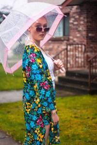 Floral Tilda Kimono   Vancouver Model   Vancouver Designer