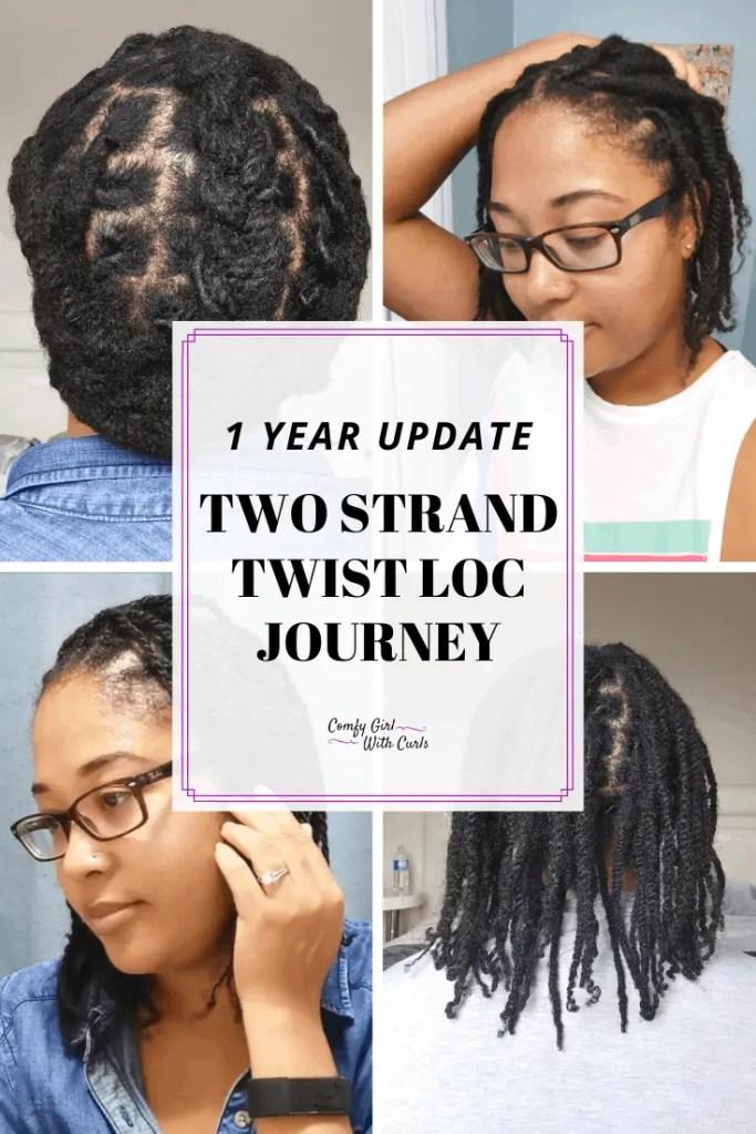 1 Year Update | Two Strand Twist Starter Loc Journey