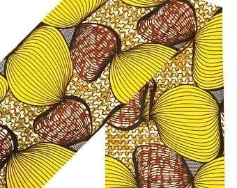NasikaWax | Yellow African Print Wax Fabric Etsy