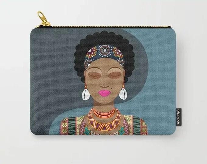 Black Girl Purse, Ankara Wallet Diva Afro Hair | LanreStudio | Canadian Etsy Seller