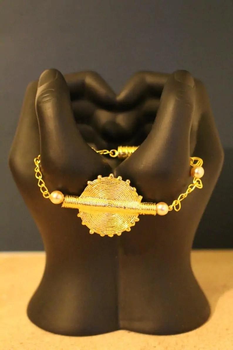 African bracelet | Gold | Nasse Creations Black Canadian Etsy