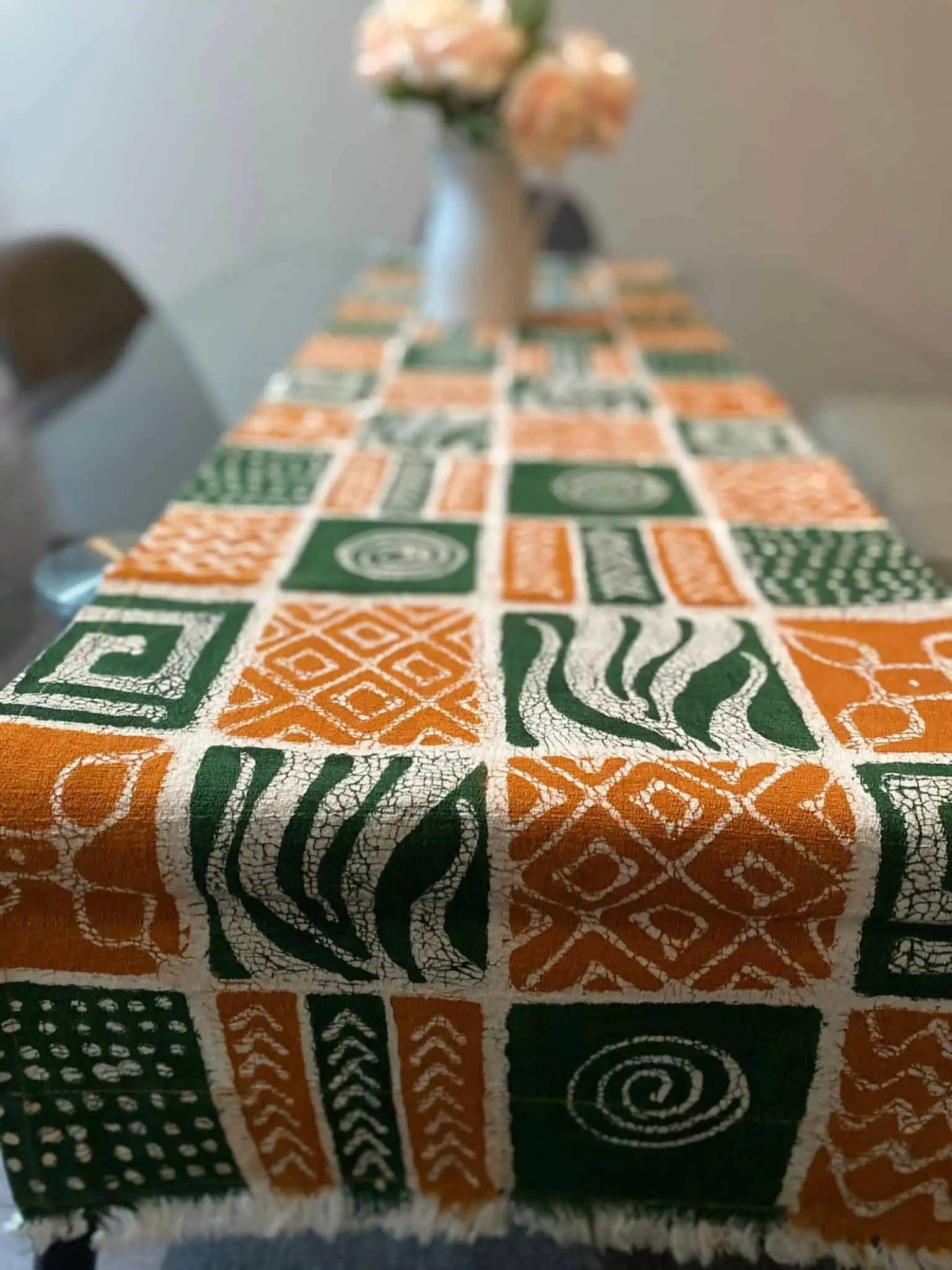 BatiquaGifts Buy Black | Canadian Etsy Shop African FairTrade Textiles | Patterned Table Runner
