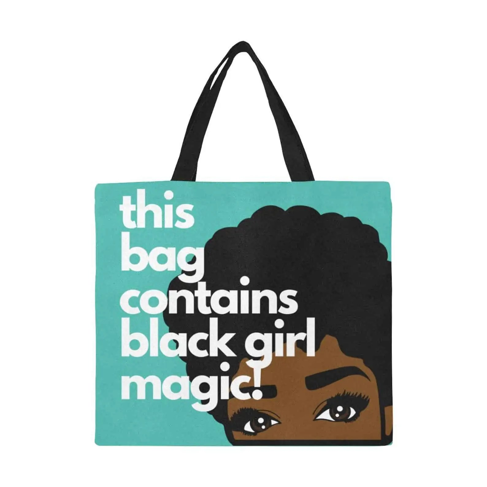 M&K Creative Designs Black Owned Canadian Etsy Shop | Afrocentric Products Black Girl Magic Bag