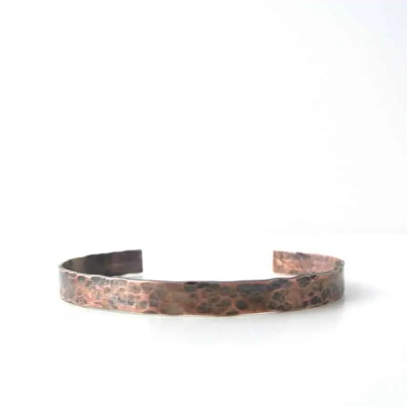 Black Owned Jewelry for men on Etsy   Hammered Copper