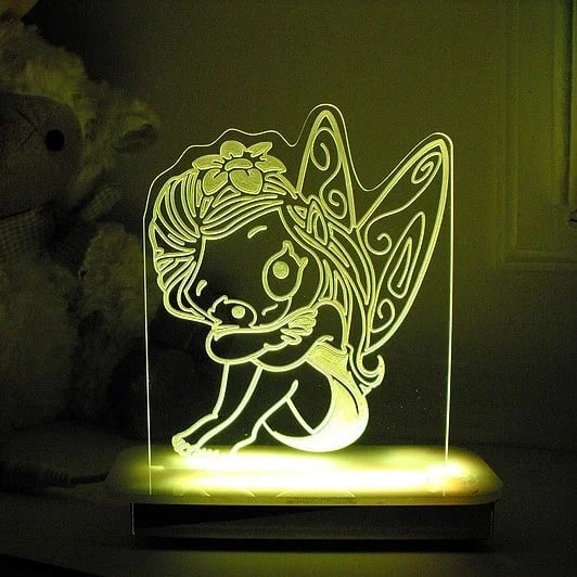 Lily Fairy Night Light  Personalised Character Night Lights  Comfy Kidz