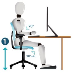 Office Chair Height Graco 4 In One High How To Adjust Your 6 Easy Steps Comfy Step1