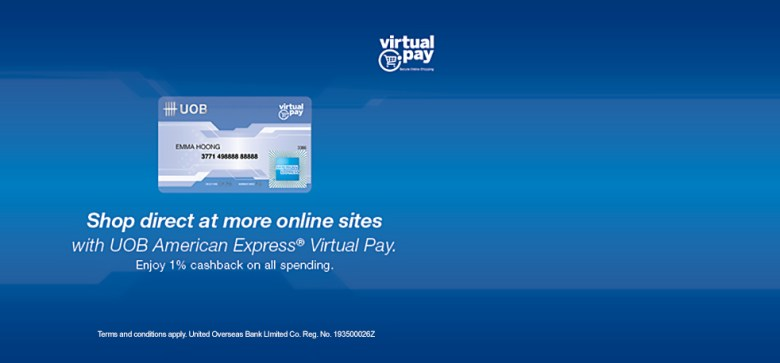 Image result for uob virtual pay amex