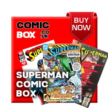 'Buy Now' Superman Mystery Comic Box