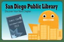 San Diego Public Library 2015 Comic Con Library Card
