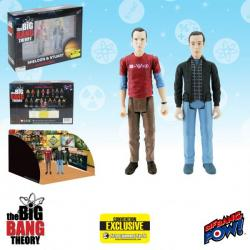 The Big Bang Theory™ Sheldon and Stuart 3 3/4 Inch Action Figures Set of 2—Convention Exclusive