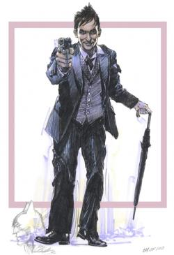 """Cobblepot"" with Neal Adams Original Pencil Remarque"